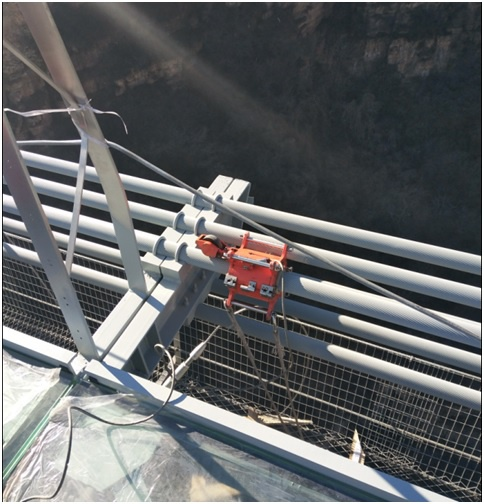 Wire rope inspection of SUSPENSION BRIDGE